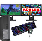 ULTRA FAST Gaming PC Bundle Intel Core i7 8GB 1TB Windows 10 GT710 DUAL SCREEN