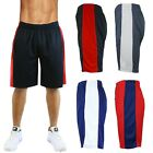 Mens Basketball Mesh Shorts With Side Stripe Running Lounge Sports Active Gym