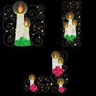 CURLY CANDLES - 6inch-10 Machine Embroidery Designs CD (FREE SHIPPING)