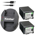 Kastar Battery Dual Charger for Canon BP-820 BP-828 & Canon VIXIA XA40 Camera