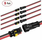 Nilight 2Pin 16AWG Way Car Waterproof Male Female Electrical Connector Plug Wire