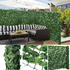 Fake Artificial Ivy Leaf Hedge Privacy Screening Garden Wall Fence Panel 3m Roll