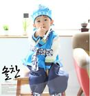 Blue hanbok boys baby infants First birthday Korea traditional Outfits 1-15 Ages