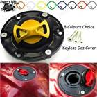 CNC Alloy Fuel Gas Tank Cap Cover Aluminum Keyless For Triumph Rocket III