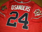 Brand New Cooperstown Atlanta Braves #24 DEION SANDERS w/2patch sewn Jersey RED on Ebay