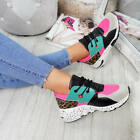 WOMENS LADIES LACE UP SPORTS TRAINERS SNEAKERS FASHION COMFY SHOES SIZE UK