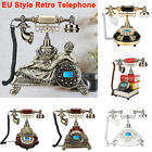 Retro Corded Telephone Home Office Vintage Desk Phone Caller ID EU Style Machine