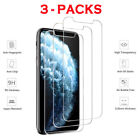 3 Packs Premium Screen Protector Tempered Glass For iPhone X Xs Max XR 8 7 Plus