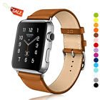 Apple Watch/Sport/Edition Series 4/3/2/1 Band Strap Classic Leather Wristband-US image