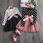 Kyпить Baby Girl Casual Dress Long Sleeve Polka Dots Junior Child Party School Wear 6T на еВаy.соm
