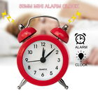 Portable Retro Alarm Clock Twin Bell Round Number Table Desk Bed LED Clocks