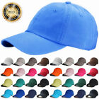 Plain Solid Hat Adjustable Washed Cotton Polo Style Caps Baseball Ball Cap LOT