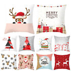 Christmas Golden Printed Polyester Pillow Case Cushion Cover Poszewka Home Decor