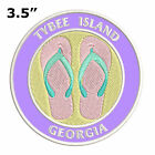 """Flip Flops Tybee Island Georgia 3.5"""" Embroidered Iron or Sew-on Patch"""