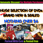 Your Choice- ☞ NEW or AS NEW DVDs - Wide Variety $6 or LESS! ☜ Updated 29/03/20 $5.0 AUD on eBay