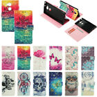 Imitation PU Leather Wallet Card Slots Case Cover w/ Wrist Strap Stand For Phone