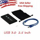 "2.5/3.5"" Sata USB 2.0/3.0 Hard Drive HDD Enclosure External Laptop Case Cable Yw"