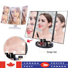 Trifold Table Led Lighted Makeup Vanity Mirror Magnifying 1X 2X 3X w/Touchscreen