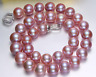 AAA 10-11mm  natural  round south sea pink   pearl necklac18 inches 925 silver