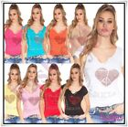 Women's Top Stretchy Everyday Casual Sexy Ladies T-Shirt One Size 6,8,10,12 UK