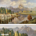 "36W""x24H"" GRAND TETONS by VERNON KERR - CLASSIC MOUNTAINS ART CHOICES of CANVAS"