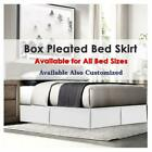 Soft Dust Ruffle Bed Skirt With Pleated Microfiber/Polyester RV King Size image