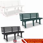 Garden Bench 145.5x49x74 cm Plastic Outdoor Bench Seat Patio Yard Decor 3 Colors