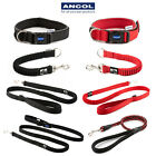 Ancol Reflective Extreme Padded Dog Collar Shock Absorber Lead Bungee Rope