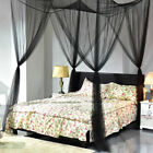 4Corner Mosquito Net Bar Curtain Bed Queen King Size Home Bedding Canopy Netting image