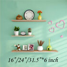 3PCS Floating Wall Shelves Rustic Wood Decoration for Living Room Bedroom Office