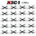 LOT 1-50 X5C-1 2.4Ghz 4CH 6-Axis RC Headless Quadcopter Drone with HD Camera WW