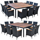 Outdoor Patio Dining Set Rattan Wicker Garden Table And Chairs Set 11pcs/13pcs
