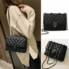 Small Mini Quilted Faux Leather Shoulder Bag Flap Crossbody Purse Envelope Chain
