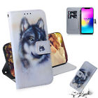 Newest Cool wolf Wallet Multi-function Leather cover Case skin for various phone