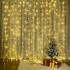 300LED/10ft Curtain Fairy Hanging String Lights Home Wedding Party 8 Modes USB