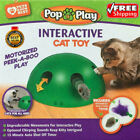 UK Pop N Play Interactive Motion Cat Toy Mouse Tease Electronic Fun Pet LOT
