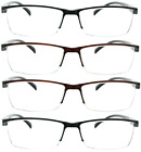Kyпить 4 Pack Reading Glasses Readers Men Women Square Frame Spring Hinge на еВаy.соm