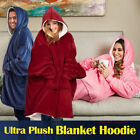 Blanket Sweatshirt Hoodie Ultra Plush Soft Warm  Winter Hooded Coats Bathrobe image