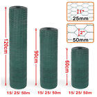 Pvc Coated Green Chicken Rabbit Wire Mesh Aviary Garden Fencing 15m 25m 50m
