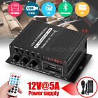 12V Bluetooth Car Power Amplifier 2 Channel Auto Motorcycle Audio Amp SD U-disk