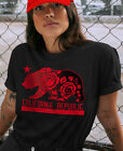 California Republic Rose Shirt Red Roses Floral T shirt Womens Top Juniors Tee