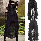 Women Vintage Lace Long Skirts Ladies Sexy Steampunk Gothic Halloween Costume
