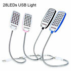 Flexible USB 28 LED Lights Night Lamp Reading Light For Computer Notebook Laptop