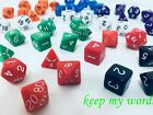 MTG RPG Board Game DND Dungeon & Dragon Optional color Polyhedral Dice & Bag New
