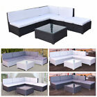 Rattan Garden Patio Furniture Set Corner Sofa Lounger Table 5 Seater W/ Cushion