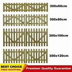 2x Wooden Picket Fence Gate Impregnated Pinewood Garden Farm Field Multi size UK
