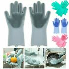2Pcs Magic Silicone Gloves Wash Scrubber for Dish Washing Car Kitchen Cleaning