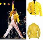 Mens Freddie Mercury Belted Jacket Wembley Rock Star Freddy Fancy Dress Outfit