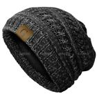Unisex G Knit Slouchy Baggy Beanie Oversize Winter Hat Ski Slouchy Cap Solid men
