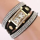 Hot Women Rhinestones Bracelet Bracelet Watch Set Ladies Quartz Dress Wristwatch